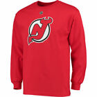 Reebok Taylor Hall New Jersey Devils Red Name  Number Long Sleeve T Shirt