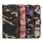 Military Camouflage Camo PU Leather Wallet Case Cover for iPhone 7 6 6s Plus 5s