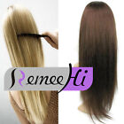 Machine  Weft  3/4 Half Wig Silky Straight 100% Indian Remy Human Hair Half Wig