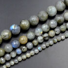 "4mm 6mm 8mm 10mm Faceted Natural Labradorite Gemstone Loose Beads 15.5"" Strand"