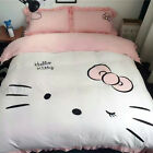 Hello Kitty Twin Queen King Size Adorable Duvet Cover Bedding Sets Girls Kids