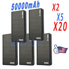 Lot 50000mAh Backup External Battery USB Power Bank Charger for Cell Smart Phone