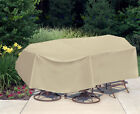 """Waterproof Outdoor Table&Chair Patio Furniture Oval/Rectangle 120"""" x 60"""""""