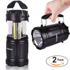 Portable COB LED Lantern Flashlight Collapsible Outdoor Hiking Camping Light