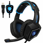SADES Spirit Wolf USB Wired Stereo Gaming Headset with Microphone LED Headphone