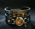 Rani Shoket Cross Bracelet with Saint Michael and Faith Inscription