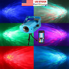 US 9W RGB LED Water Ripples Light Stage Lamp Projector Club Party Bar Lighting
