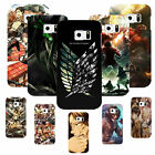 Funny Cool Attack on Titan Style White Phone Case Cover For Samsung Galaxy 4/5/6