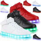 New 2017 High Top Sports Shoes 7 Led Light Lace Up sneaker Luminous Casual Shoes