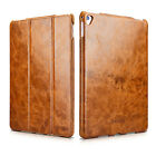 """ICARER Vintage Oil Wax Genuine Leather Folio Stand Case Cover For iPad Pro 9.7"""""""