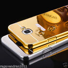 Luxury Aluminum Metal Bumper + Mirror Back Case Cover For Samsung Galaxy A7 2016