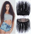 "7A Brazilian Deep Wave 13X4""  Silk Base Frontal Full Frontal Lace Closure"