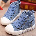 NEW Fashion Kid's BOYS Denim-Colored Sports Casual Canvas Sneakers Shoes Boots