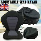UK Deluxe Adjustable Padded Kayak Seat + Detachable Back Bag Canoe Backrest