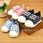S007 Star Canvas Baby Sneakers available Pink Blue Dark Blue 0 - 9 months