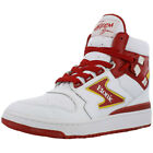 Etonic Akeem The Dream Hi Top Trainers White/Red  Mens Size
