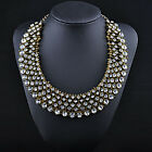 Fashion Women Rhinestone Crystal Chain Pendant Necklace Earrings Jewelry Set Hot