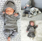 Newborn Infant Baby Boys Girls Clothes Set Hoodied Warm Clothing + Pants 0-3Y