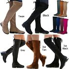 New Women FJL Stretchy Over the Knee Thigh High Drawstring Low Heel Boot 5.5-10