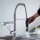 Kitchen Faucet Swivel Spout Single Hole Sink Mixer Tap Pull Down Sprayer