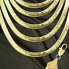 14K ITALY GOLD PLATED 12m HERRINGBONE CHAIN NECKLACE GUARANTEED SAME DAY  H12ALL
