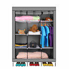 69  Portable Closet Storage Organizer Clothes Wardrobe Shoe Rack with Shelves MG