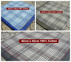12 pieces / 6 pieces large 100% cotton size 42cm x 42cm checks handkerchiefs