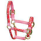 Red Hearts w/Pink Polka Dots Accent Fashion Horse Halter