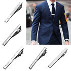 Formal Men's Simple Stainless Metal Silver Tone Necktie Tie Bar Clasp Clip Pin