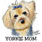Yorkie Terrier Dog Ladies Tshirt or Nightshirt yorkshire kiniart pet art 7537
