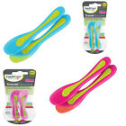 Brother Max 2 Pack BPA Free  Heat Sensitive Baby Travel Spoons - Pink or Blue