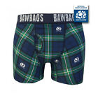 BAWBAGS NEW Men's Official Scotland Rugby Boxer Shorts Tartan BNIB