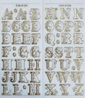 25mm UPPERCASE ALPHABET Embossed Clear PEEL OFF STICKERS Filigree Alphabet Fancy