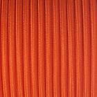 Fabric braided cable UK manufactured round and twisted covered orange