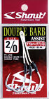 NEW Shout Double Barb Assist Fishing Rods Reels Tackle Box Lures Jigs