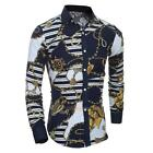 Luxury Mens Luxury Long Sleeve Shirt Casual Slim Fit Stylish Dress Shirts Tops