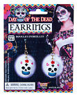 Day Of The Dead White Skull Costume Earrings