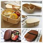 Vintage Wooden Bento Boxes Japanese Style Lunch Box Food Fruit Sushi Container