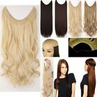 "16""-24"" wavy curly Halo Invisible wire Filp in  one piece Human Hair  extension"
