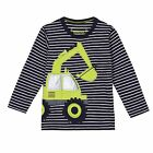 Bluezoo Kids Boy's Blue Digger Applique Long Sleeve T-Shirt From Debenhams