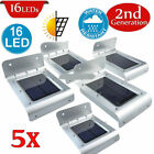 16LED Solar Power Motion Sensor Garden Security Lamp Waterproof Light LOT NEW!