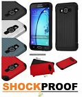 For Samsung GALAXY On5 Phone Hybrid Silicone Rubber Protective Hard Case Cover