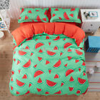 Watermelon Duvet/Quilt Cover Set Single/QUEEN/King Size White/Red Doona Covers