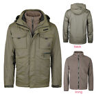 Men's Winter Military Outdoor Jacket Camping Windproof 3 in 1 Hooded Parka Coat