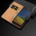 Luxury Real Genuine Leather Case for Motorola Moto Flip Wallet Cover Phone Stand
