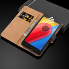 Luxury Genuine Real Leather Flip Case Wallet Cover Stand for Motorola Phones <br/> 99.8 POSITIVE+FREE POSTAGE+1ST CLASS POST+HIGH QUALITY