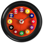 Pool Wall Clock 8 Ball Billiards Games Room Gift #2 - Can be personalised £12.99 GBP on eBay