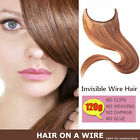 Handmade Halo Invisible Wire Hair Extension Hair On A Wire 100% Remy Human Hair