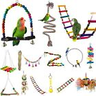 Colorful Parrot Swing Bird Toy Rope Harness Cage Toys Parakeet Cockatiel Budgie