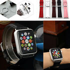 For Apple Watch 1 /2 Leather 38/42mm Buckle Wrist Watch Strap Band Watchband